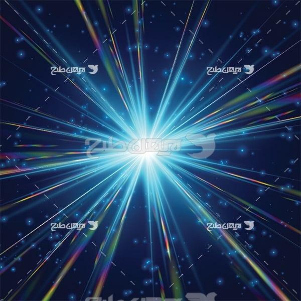وکتور اجسام نورانی در فضا