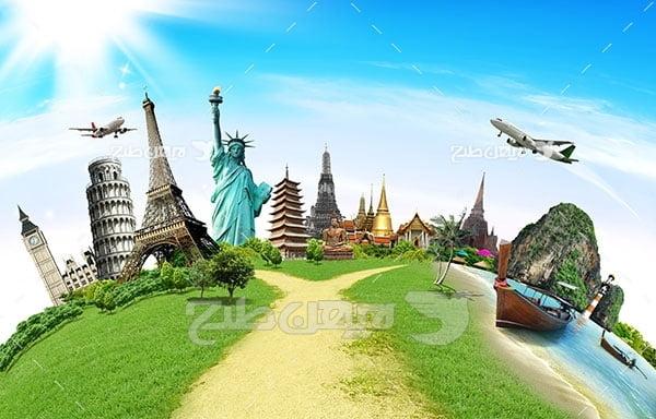 تصویر مسافرت و گردشگری و مکان های گردشگری جهان