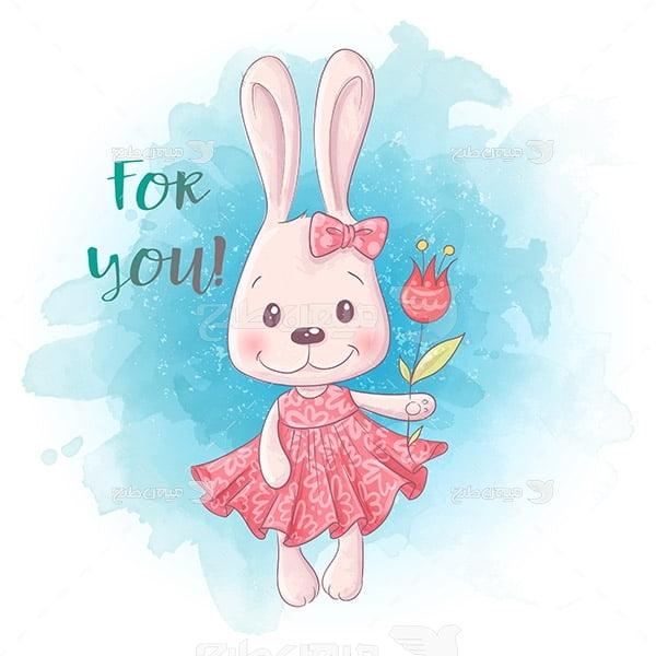 وکتور کارتونی خرگوش خانم