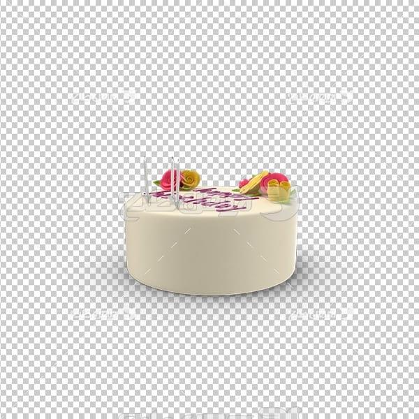 تصویر دور بری سه بعدی کیک