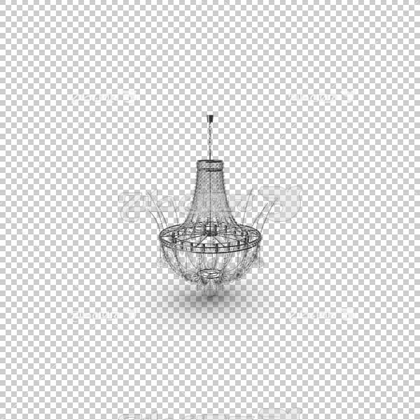 تصویر سه بعدی دوربری لوستر