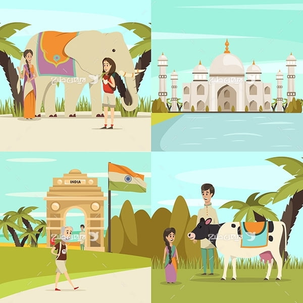 وکتور مناطق گردشگری در هند