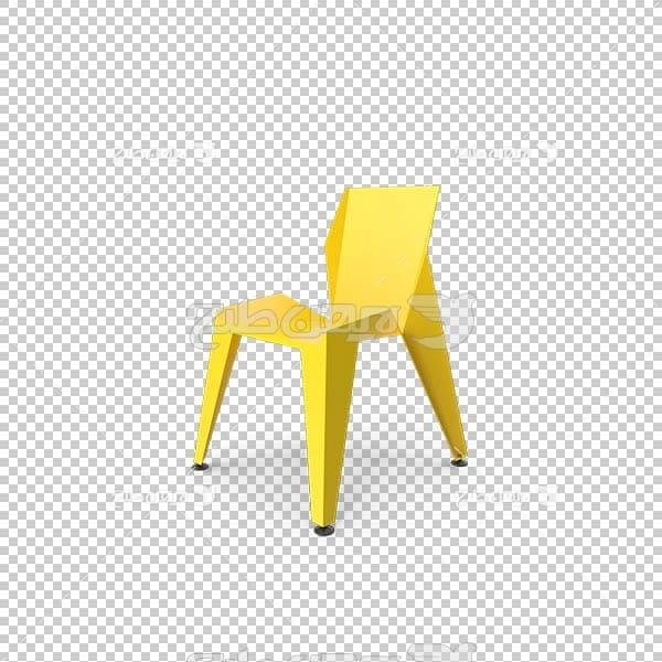تصویر سه بعدی دوربری صندلی زرد