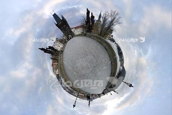عکس کروی 360 درجه شهر