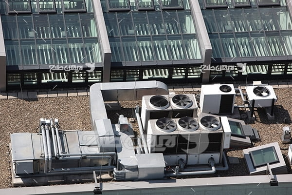 تصویر موتور خانه در پشت بام