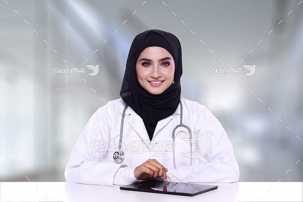 عکس پزشک خانم با حجاب