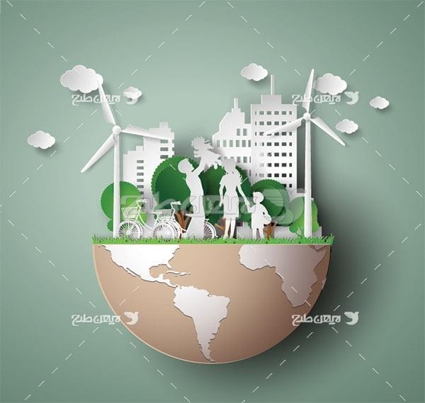 وکتور حفظ محیط زیست با تولید برق از توربین