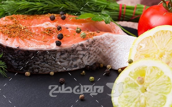 گوشت ماهی و لیمو