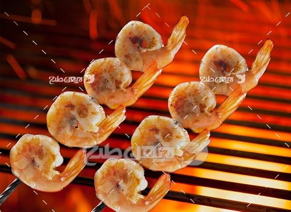 سیخ میگو کباب
