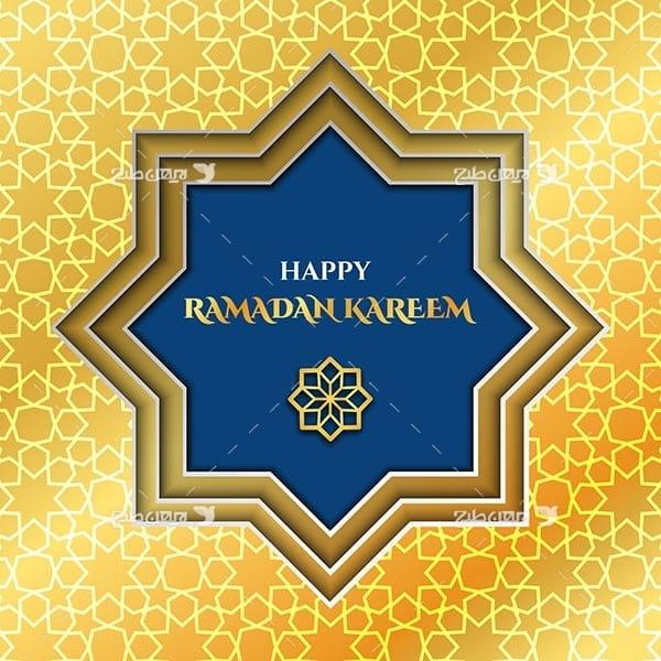 وکتور گرافیکی ماه رمضان