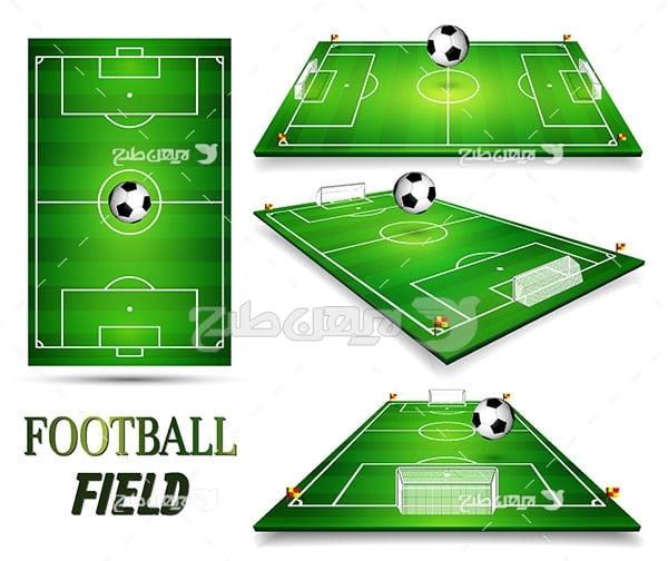 طرح وکتور ورزشی از توپ فوتبال
