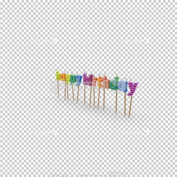 تصویر دور بری سه بعدی شمع تولد