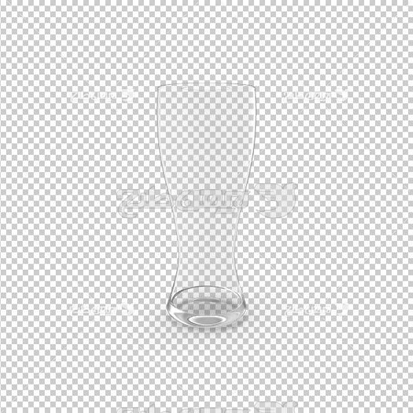 تصویر دوربری سه بعدی لیوان