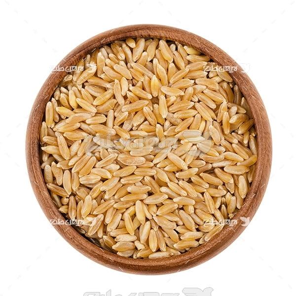 عکس برنج خام