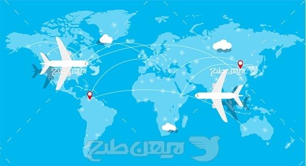 نقشه مسیر حرکت هواپیما