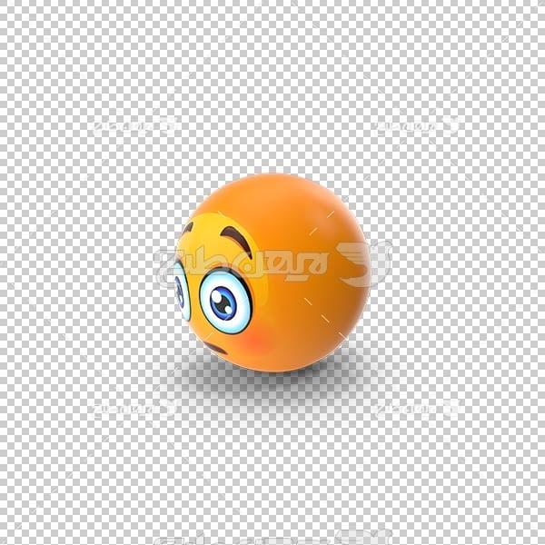 تصویر سه بعدی دوربری توپ اموجی empji