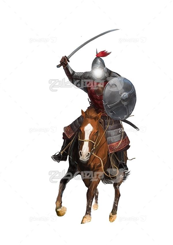 عکس امام سوار بر اسب در تعزیه