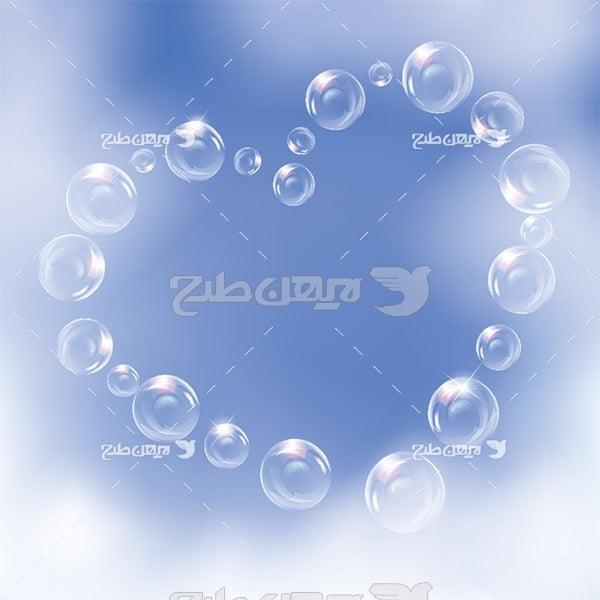 وکتور حباب با شکل قلب