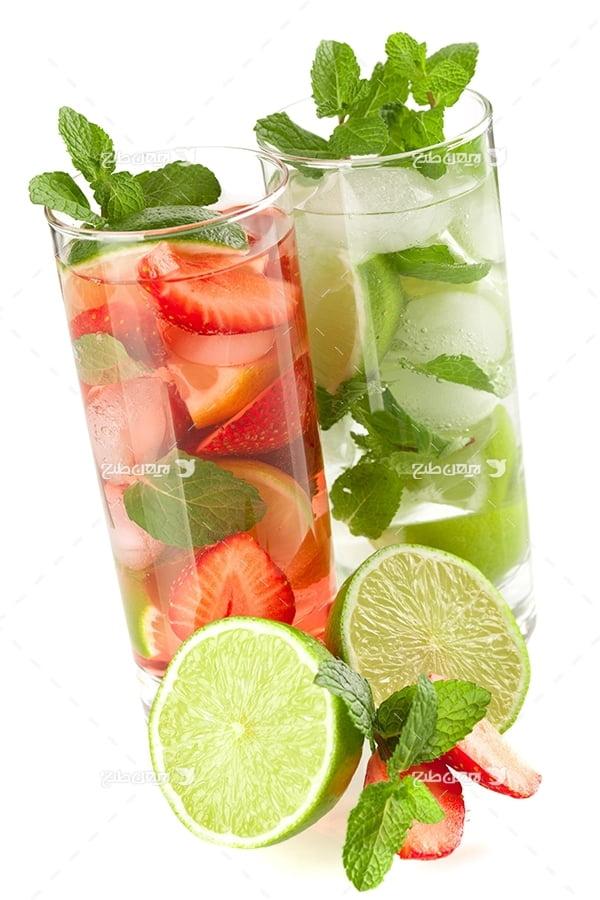 عکس نوشیدنی و آب میوه و لیمو