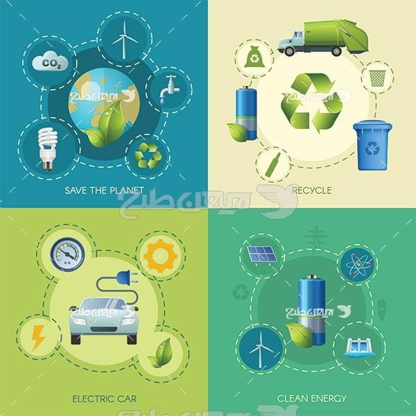 وکتور چرخه بازیافت