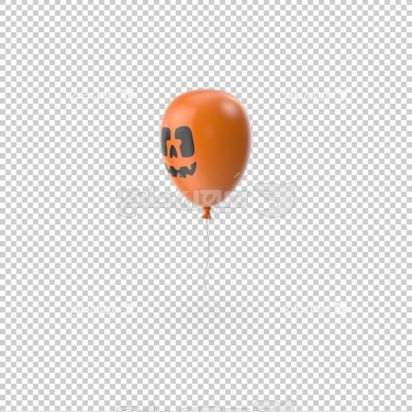 تصویر سه بعدی دوربری بادکنک نارنجی