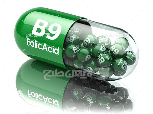عکس کپسول های دارویی رنگی
