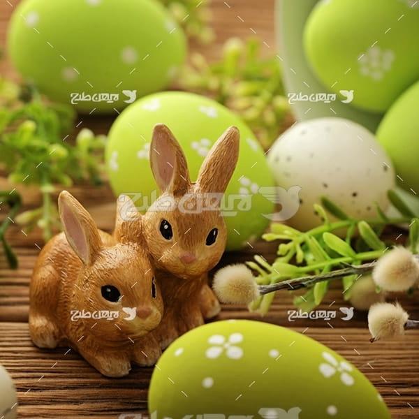 بک گراند تخم مرغ و خرگوش