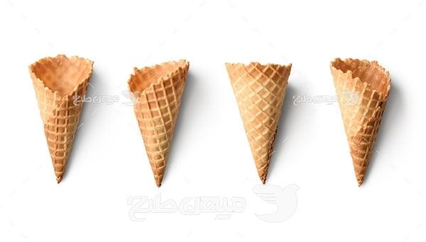 عکس بستنی قیفی
