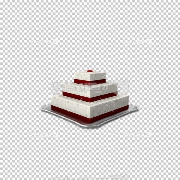 تصویر دور بری سه بعدی کیک خامه ای سه طبقه