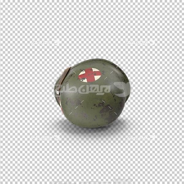 تصویر دوربری سه بعدی کلاه امدادگر
