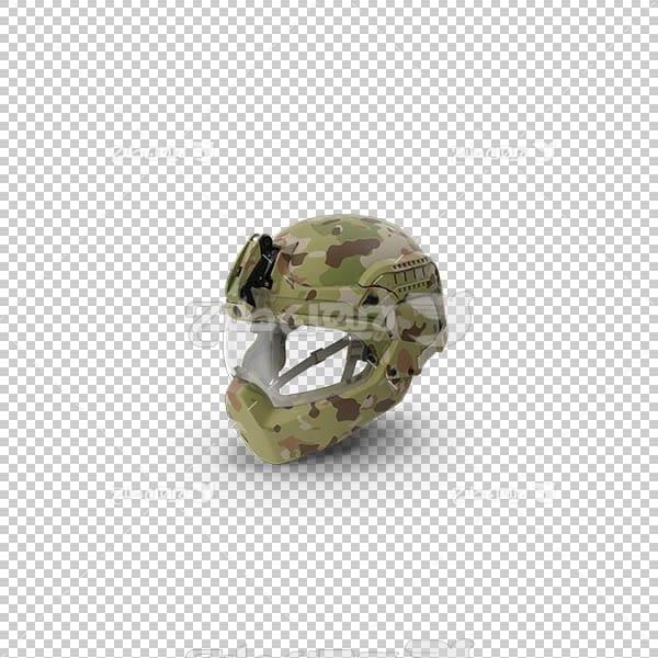 تصویر سه بعدی دوربری کلاه ایمنی ارتشی