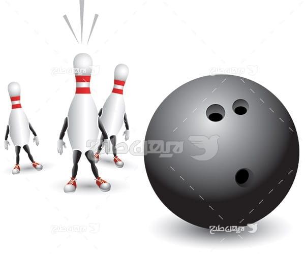وکتور ورزش بولینگ