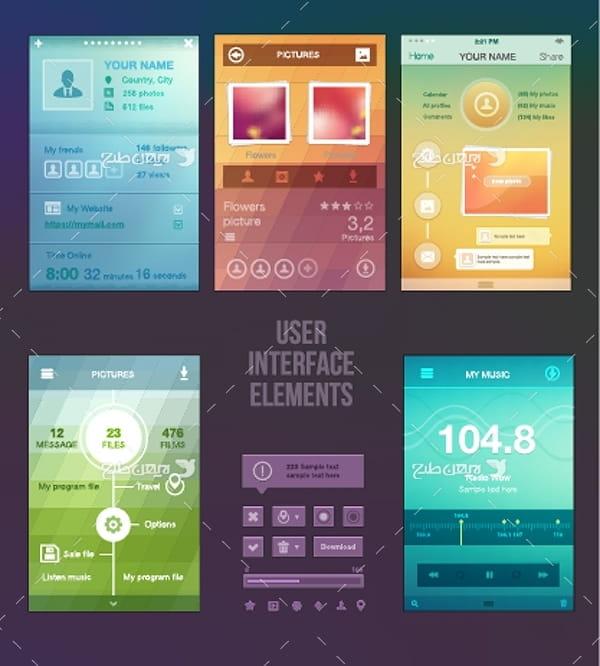 طرح گرافیکی وکتور برنامه و اپلیکیشن موبایل