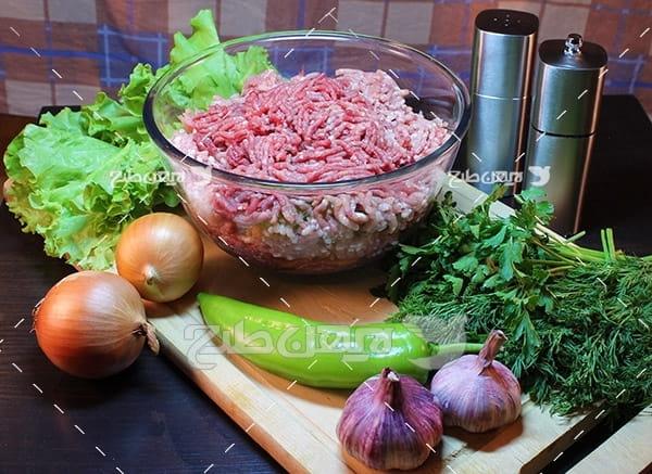 گوشت چرخکرده ماهی میگو,غذای ماهی میگو سبزیجات