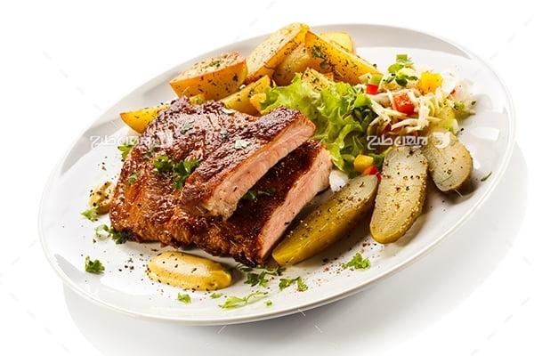 عکس غذای گوشت کباب