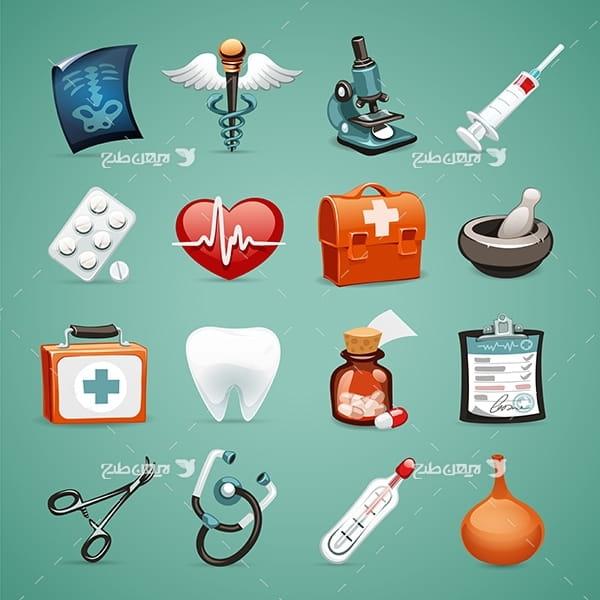 وکتور و آیکن گرافیکی پزشکی و درمان