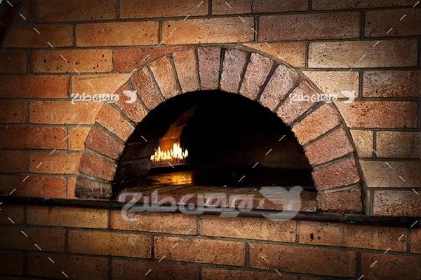 تصویر با کیفیت از تنور پیتزا