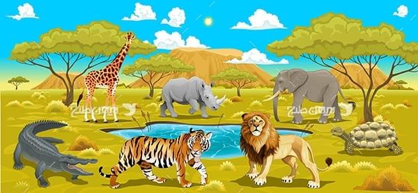 طرح گرافیکی وکتور با موضوع حیوانات