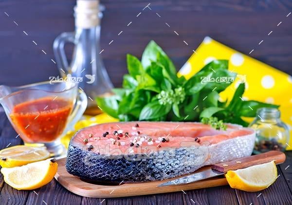عکس ماهی،گوشت ماهی,غذای ماهی سبزیجات