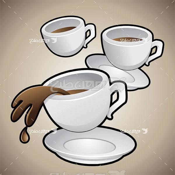 وکتور فنجان قهوه