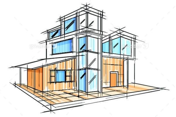 طرح گرافیکی وکتور ساختمان