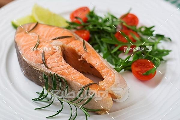 ماهی،گوشت ماهی, ماهی و سبزیجات گوجه, غذای ماهی