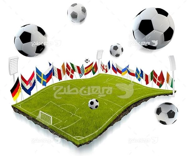 تصویر ورزشی از توپ فوتبال