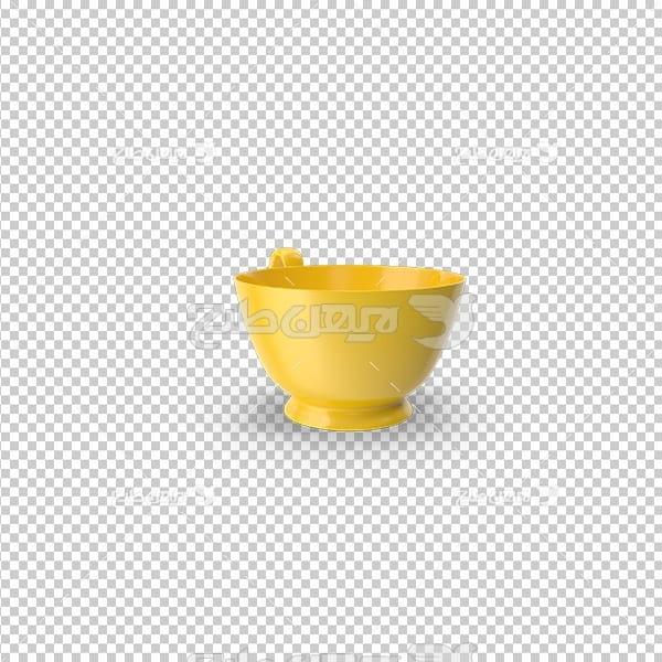 تصویر دوربری سه بعدی ماگ زرد