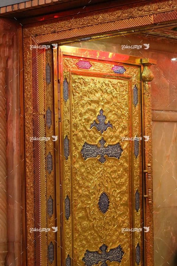 تصویر با کیفیت از درب حرم امام حسین علیه السلام