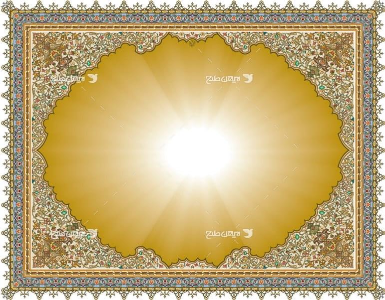 طرح وکتور قاب اسلیمی و مذهبی