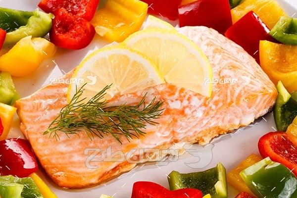 لیمو،گوشت ماهی