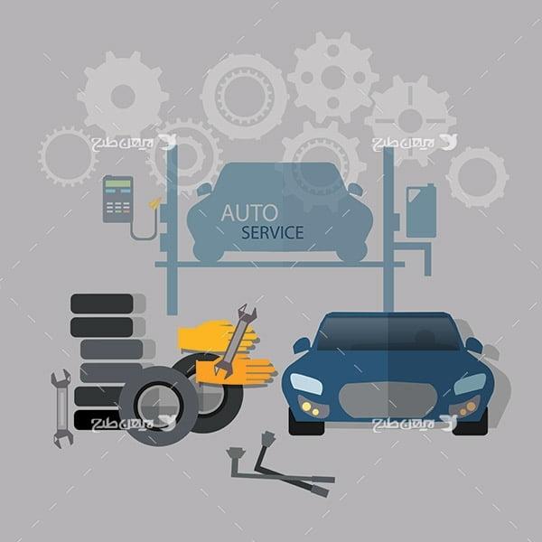 طرح وکتور تعمیرات ماشین و خودرو