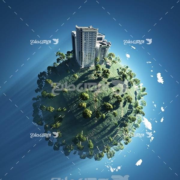 عکس محیط زیست و ساختمان در کره زمین