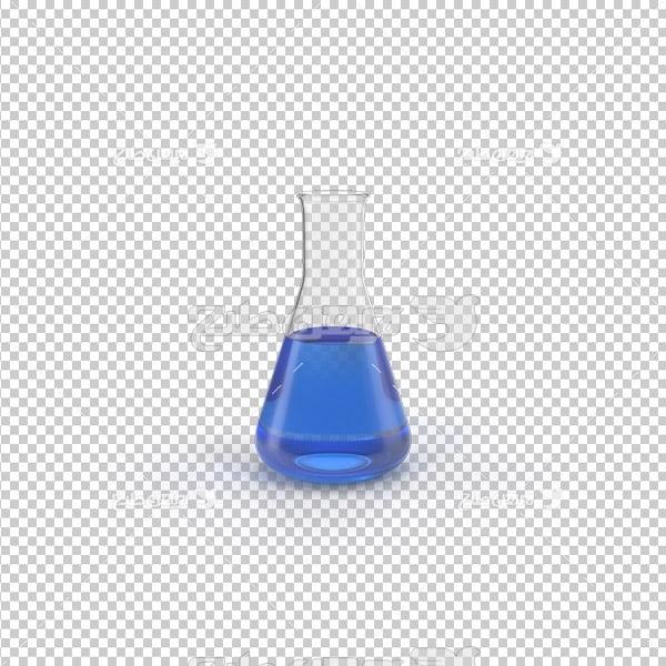 تصویر دوربری سه بعدی ظرف آزمایشگاه